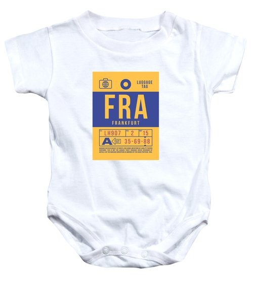 Retro Airline Luggage Tag 2.0 - Fra Frankfurt Germany Baby Onesie