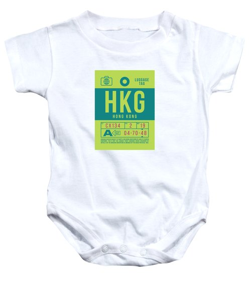 Retro Airline Luggage Tag 2.0 - Hkg Hong Kong Baby Onesie