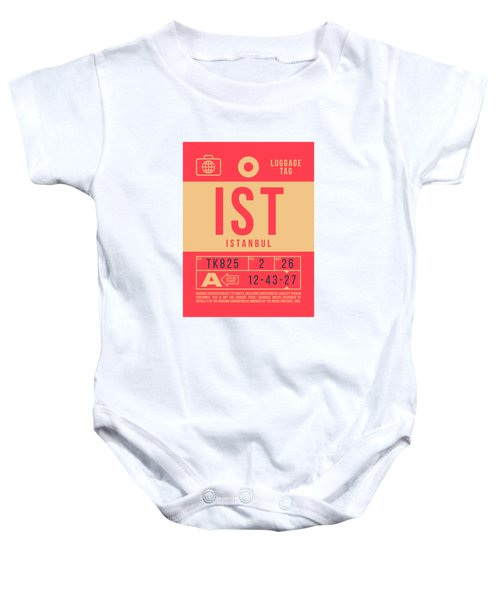 Retro Airline Luggage Tag 2.0 - Ist Istanbul Turkey Baby Onesie
