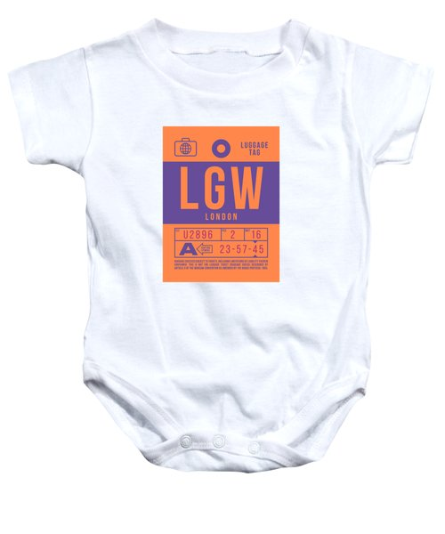 Retro Airline Luggage Tag 2.0 - Lgw London Gatwick Airport United Kingdom Baby Onesie