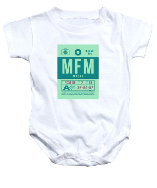 Retro Airline Luggage Tag 2.0 - Mfm Macau International Airport Baby Onesie