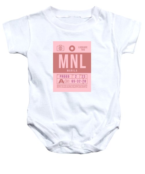 Retro Airline Luggage Tag 2.0 - Mnl Manila Aquino Airport Philippines Baby Onesie