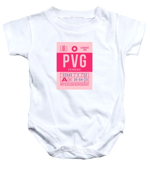 Retro Airline Luggage Tag 2.0 - Pvg Shanghai International Airport China Baby Onesie