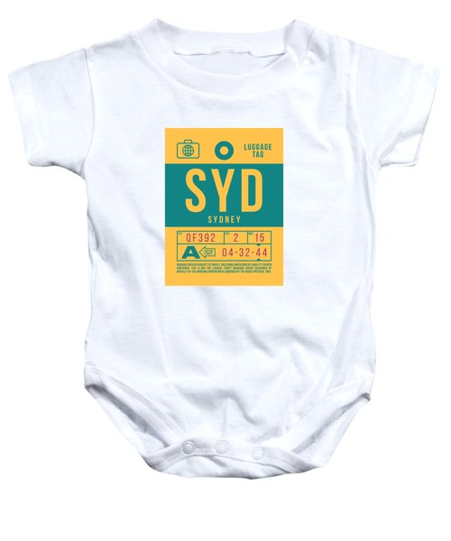 Retro Airline Luggage Tag 2.0 - Syd Sydney Kingsford Smith Airport Australia Baby Onesie
