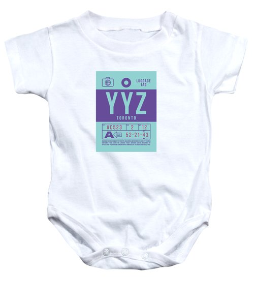 Retro Airline Luggage Tag 2.0 - Yyz Toronto International Airport Canada Baby Onesie