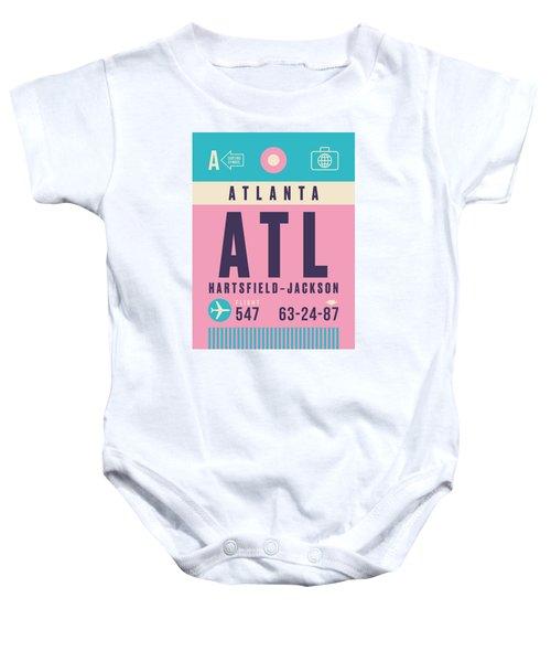 Retro Airline Luggage Tag - Atl Atlanta Baby Onesie