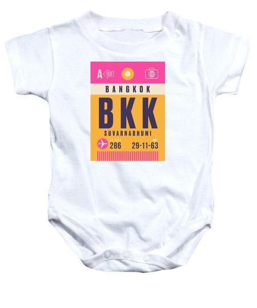 Retro Airline Luggage Tag - Bkk Bangkok Thailand Baby Onesie