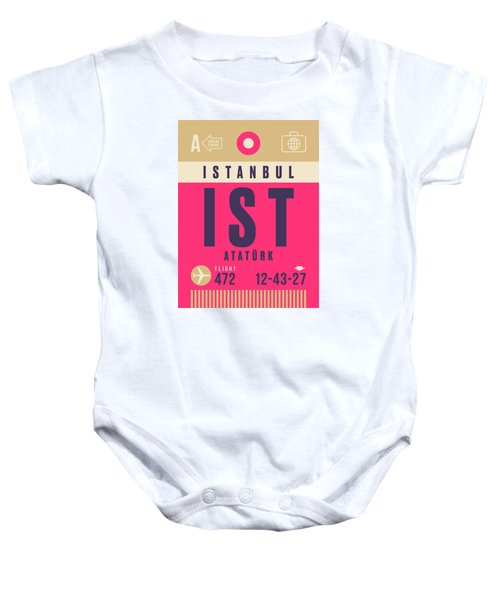 Retro Airline Luggage Tag - Ist Istanbul Airport Baby Onesie
