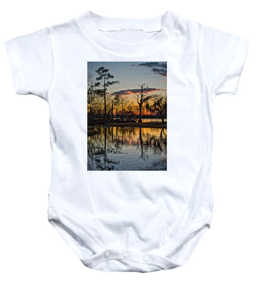 Riverside Sunset Baby Onesie