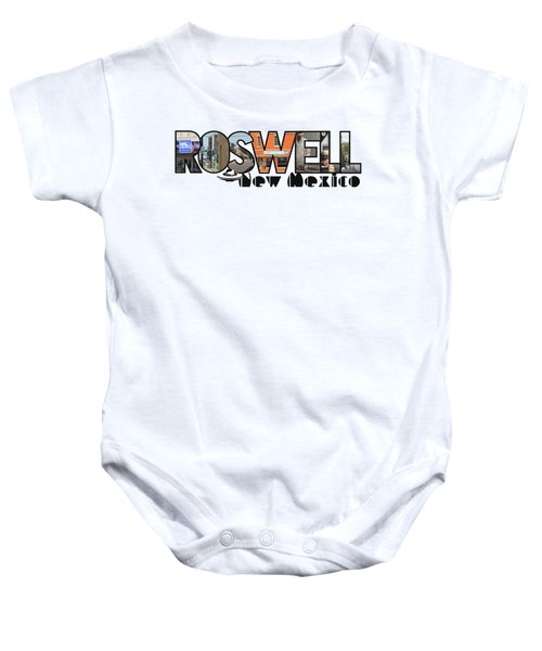 Roswell New Mexico Big Letter Travel Souvenir Baby Onesie