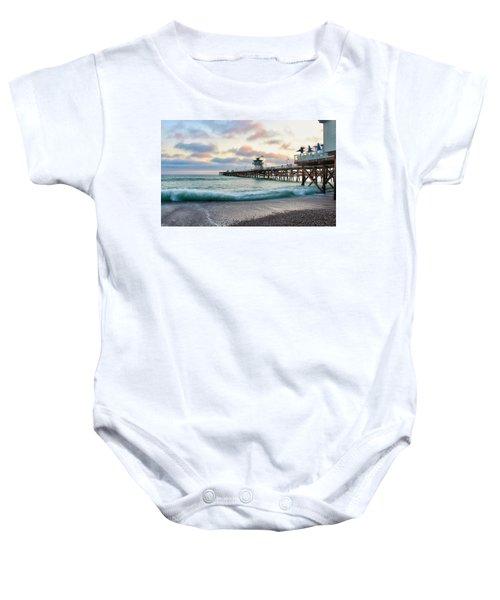 A San Clemente Pier Evening Baby Onesie