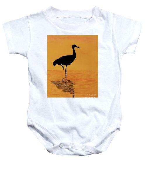 Sandhill - Crane - Sunset Baby Onesie