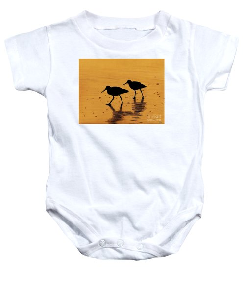 Sandpipers - At - Sunrise Baby Onesie