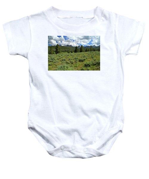 Sawtooth Range Crooked Creek Baby Onesie