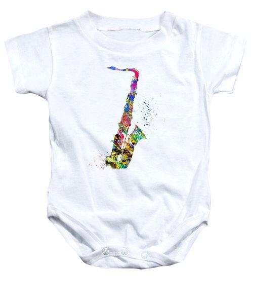 Saxophone-colorful Baby Onesie