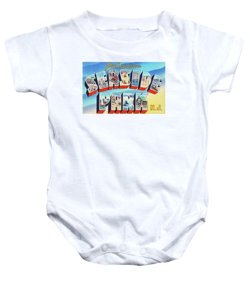 Seaside Park Greetings - Version 2 Baby Onesie