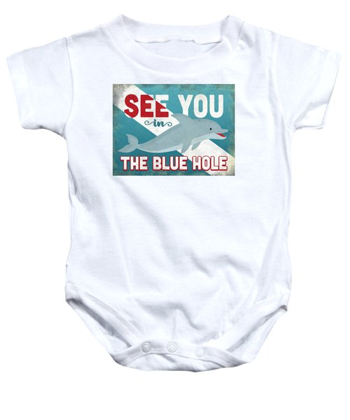 5c8c9702fa7d3 See You In The Blue Hole Dolphin Baby Onesie