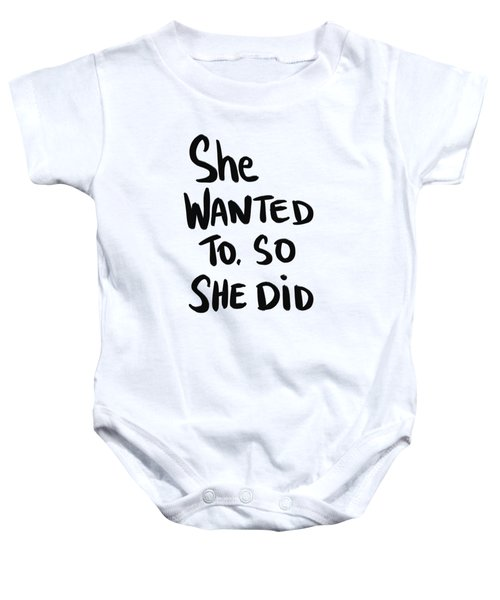 She Wanted To Bold- Art By Linda Woods Baby Onesie