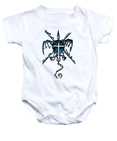 Shield Wing And Spears Baby Onesie