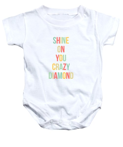 Shine On You Crazy Diamond Baby Onesie