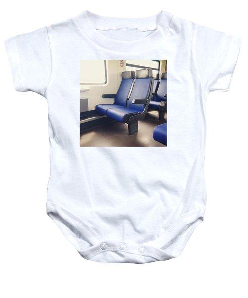 Sitting On Trains Baby Onesie