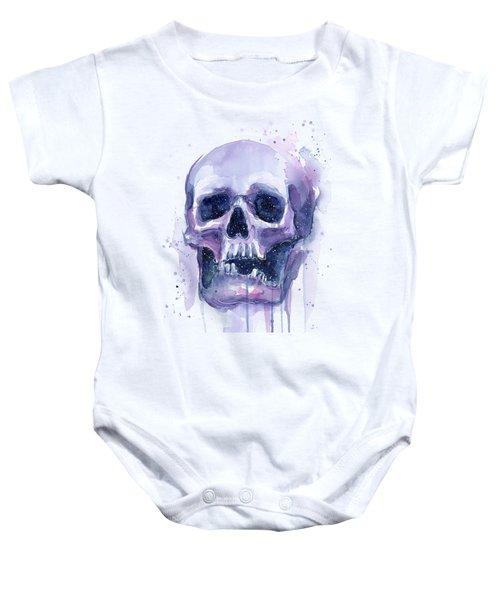 Skull In Space Baby Onesie