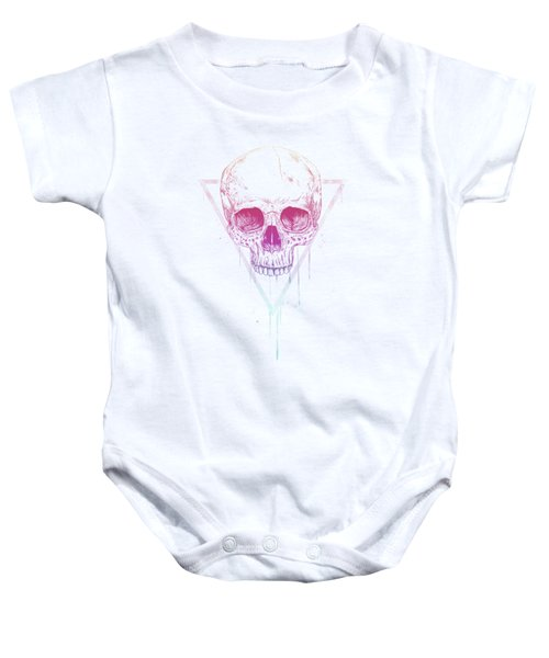 Skull In Triangle Baby Onesie