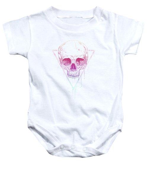 Skull In Triangle Baby Onesie