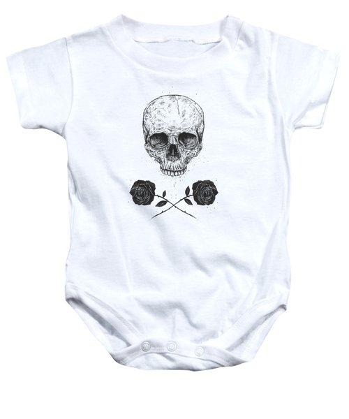 Skull N' Roses Baby Onesie