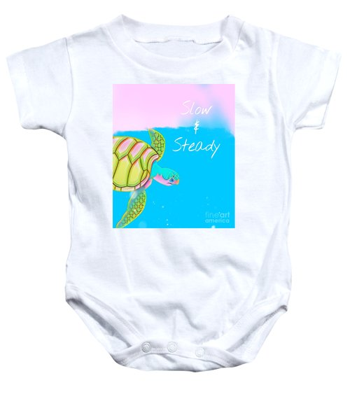 Slow And Steady Baby Onesie