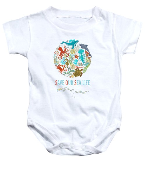 Save Our Sea Life Baby Onesie