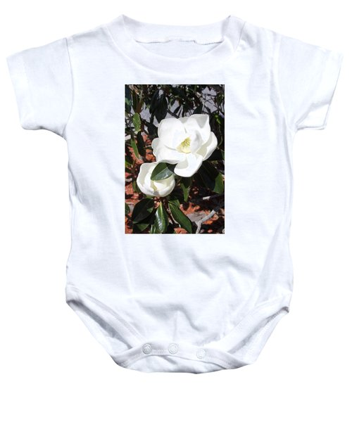 Sosouthern Magnolia Blossoms Baby Onesie