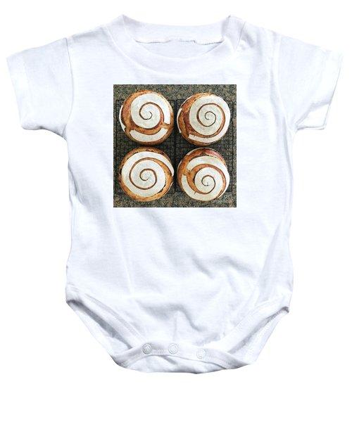 Sourdough Spirals X 4 Baby Onesie