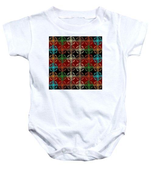 Southwestern Sun Tile Baby Onesie