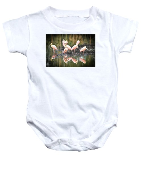 Spoonbill Reflection Baby Onesie