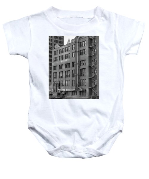 Squares And Lines Baby Onesie