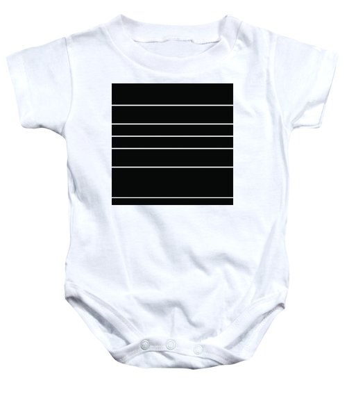 Stacked - Black And White Baby Onesie