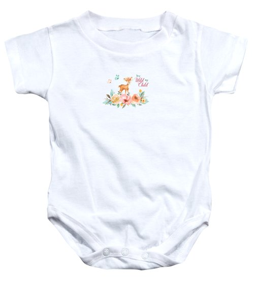 Stay Wild My Child With Deer Baby Onesie