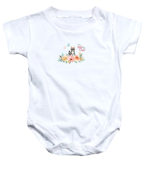 Stay Wild My Child With Raccoon Baby Onesie