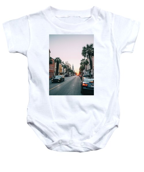 Stopping Time Baby Onesie