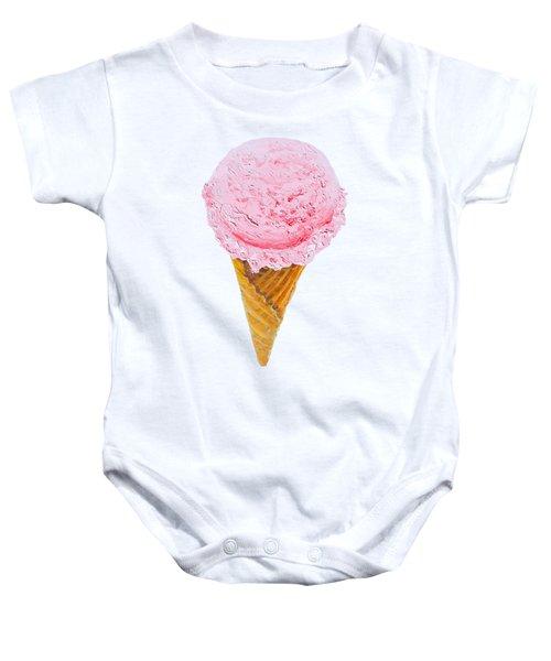 Strawberry Ice Cream Cone Baby Onesie