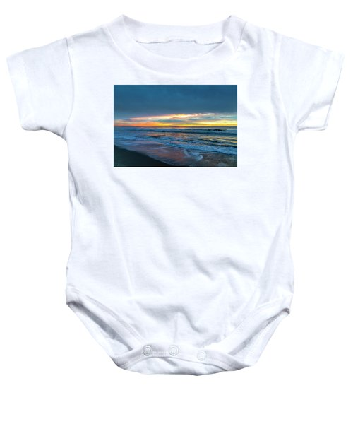 Sunset Fire Over Catalina Island 2 Baby Onesie