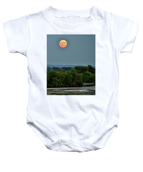 Supermoon On The Mississippi Baby Onesie