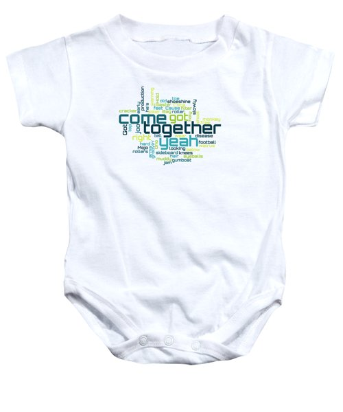 The Beatles - Come Together Lyrical Cloud Baby Onesie