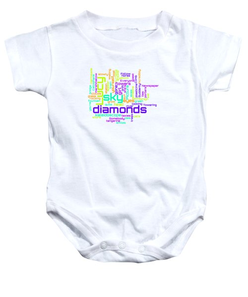 The Beatles - Lucy In The Sky With Diamonds Lyrical Cloud Baby Onesie
