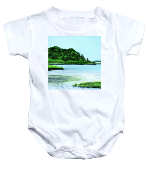 The Little River Gloucester, Ma Baby Onesie