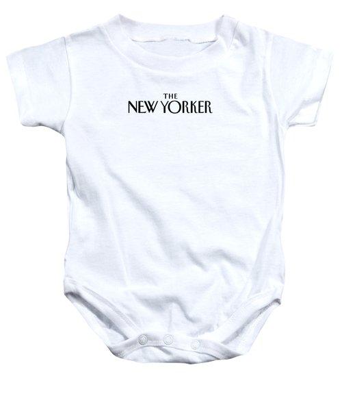 The New Yorker Logo Baby Onesie