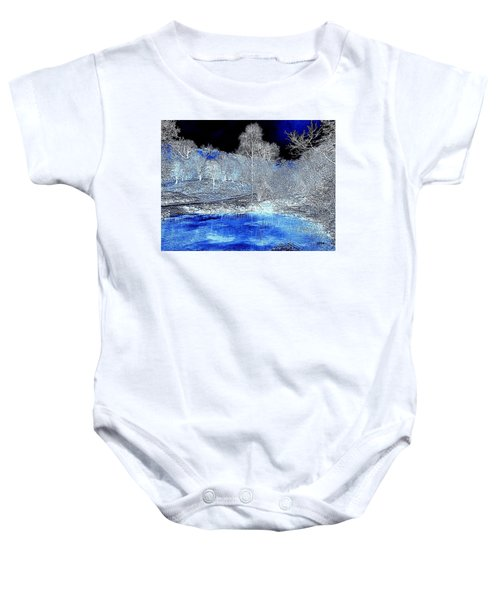 The  Pond In  Winter  -  Edit20-contest Baby Onesie