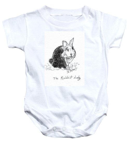 The Rabbit Lady Drawing Baby Onesie