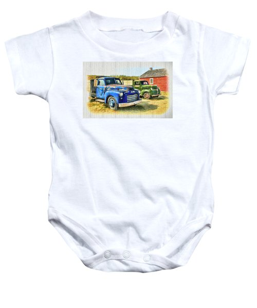 The Strong Silent Types Baby Onesie